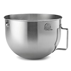 KitchenAid 5 Quart Polished Stainless Steel Mixing Bowl (ONLY to fit KG 5-Quart KitchenAid Bowl-Lift Stand Mixers)